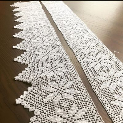 Enkeltmønster Heklebord Fana - 1