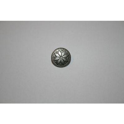 Metal knapp Åttebladsrose